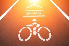 Signe de bicyclettes Photographie stock