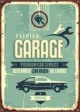 Signe de bidon de vintage de garage illustration stock