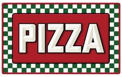 Signe de bidon de pizza de vintage illustration libre de droits