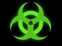 Signe de Biohazard Photos stock