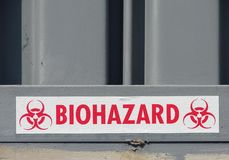 Signe de Biohazard photographie stock