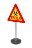 Signe de biohazard d'Ebola Image libre de droits