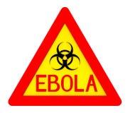 Signe de biohazard d'Ebola Photographie stock