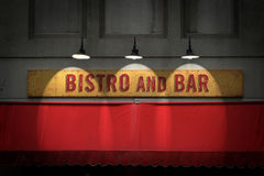 Signe de Bistros Photo stock