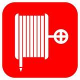 Signe de bobine de tuyau d'incendie Images stock