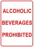 signe de boissons alcooliques Photographie stock libre de droits