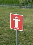 Signe de bouche d'incendie Photos libres de droits