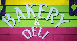 Signe de boulangerie et d'épicerie Image libre de droits