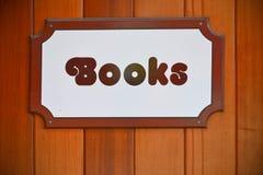 Signe de boutique de livres Photos libres de droits