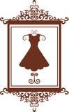 Signe de boutique de mode avec la robe Photographie stock libre de droits
