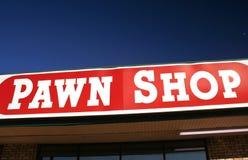 Signe de boutique de prêteur sur gages Images stock
