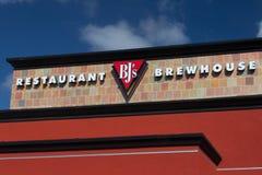 Signe de brasserie du restaurant du BJ Image libre de droits