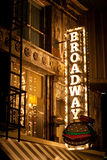 Signe de Broadway Photographie stock