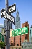 Signe de Broadway Photo libre de droits