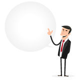 Signe de bulle de la parole d'homme d'affaires illustration de vecteur