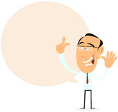 Signe de bulle de la parole d'homme d'affaires illustration stock