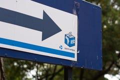 Signe de bureau de vote pour les ?lections nationales sud-africaines photo stock