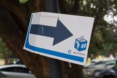 Signe de bureau de vote pour les ?lections nationales sud-africaines photos stock