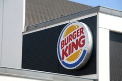 Signe de Burger King photo stock