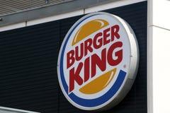 Signe de Burger King photographie stock libre de droits
