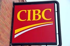 Signe de côté de CIBC Photos libres de droits