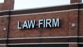 Signe de cabinet d'avocats photographie stock libre de droits