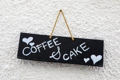 Signe de café et de gâteau Photos libres de droits