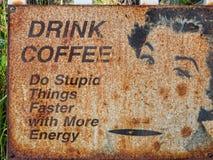 Signe de café de boissons Photo stock