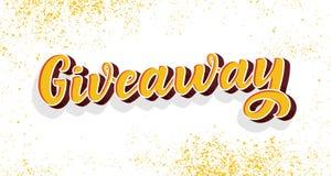 Signe de calligraphie de don Illustration de cru de style de graffiti Image de concours de promotion d'annonce Gagnez le cadeau p image stock