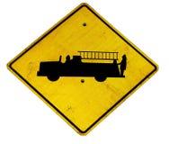 Signe de camion de pompiers Photo stock