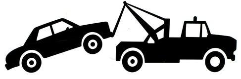 Signe de camion de remorquage illustration de vecteur