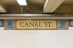 Signe de Canal Street Photos stock