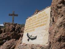 Signe de canyon de Colca Image stock