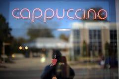 Signe de cappuccino Photos stock