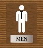 signe de carte de travail de toilettes pour les hommes Photographie stock