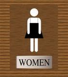 signe de carte de travail de toilettes pour les hommes Image libre de droits