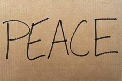 Signe de carton de paix illustration stock