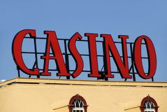 Signe de casino Photos stock