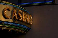Signe de casino Images stock