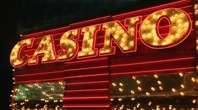 Signe de casino Photographie stock libre de droits