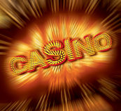 Signe de casino Photo libre de droits