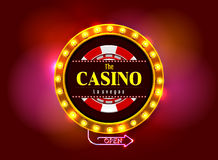 Signe de casino Images stock