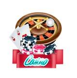 Signe de casino de vecteur d'isolement Photo libre de droits
