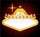 Signe de casino de vegas de vecteur Images libres de droits