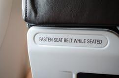 Signe de ceinture de sécurité Images libres de droits