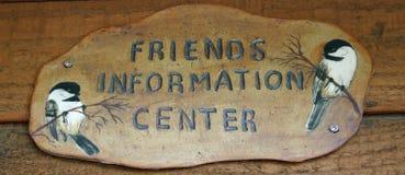 Signe de centre d'information Photo libre de droits
