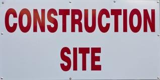 Signe de chantier de construction Photographie stock