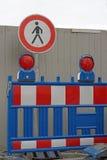 Signe de chantier de construction Photo libre de droits