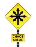 Signe de chaos en avant Image stock