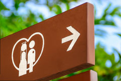 Signe de chapelle de mariage Photographie stock